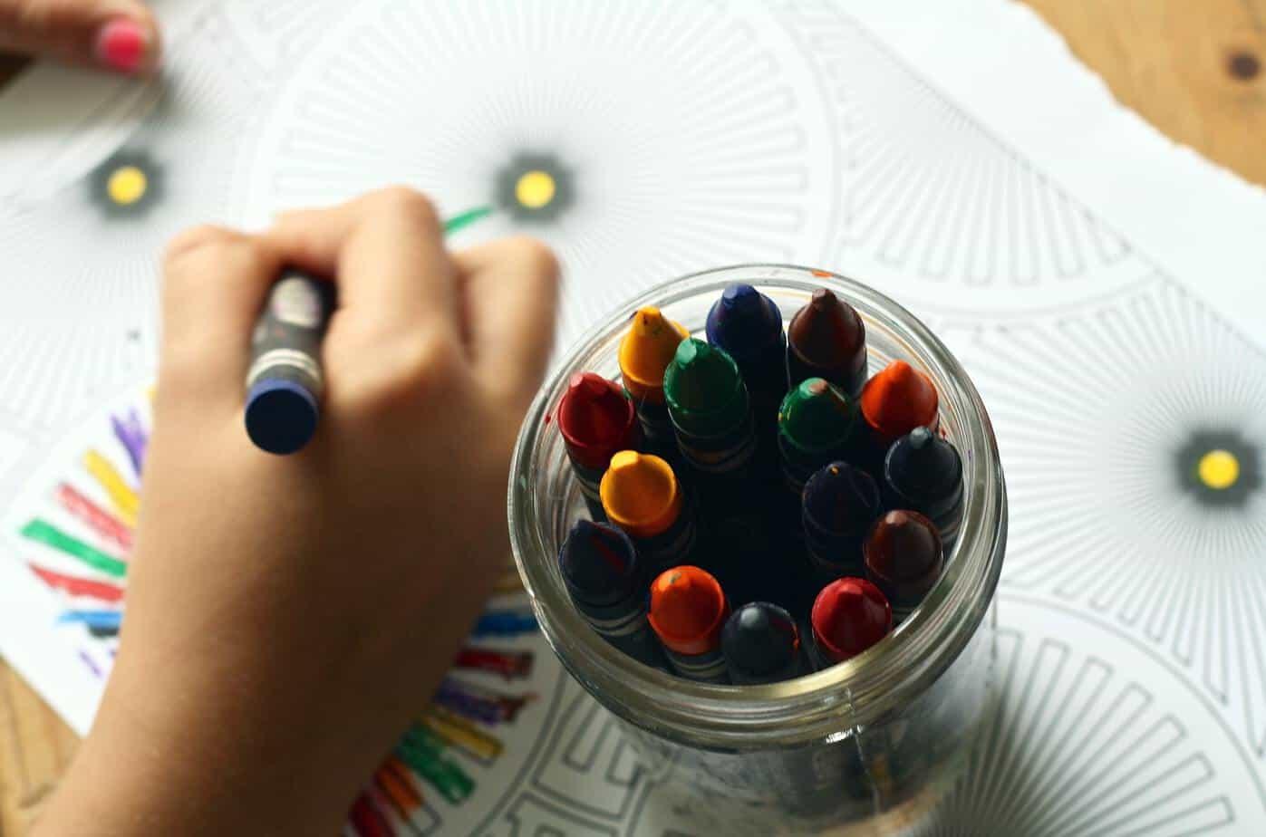 crayons coloring book